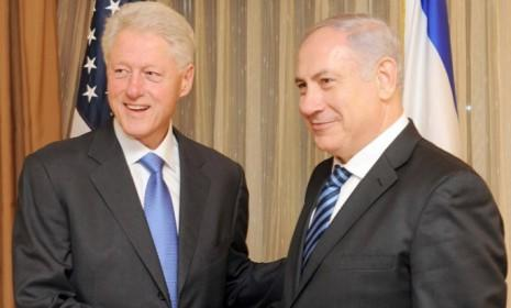 President Bill Clinton meets with Israeli Prime Minister Benjamin Netanyahu on Nov. 8, 2010.