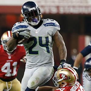 Seattle Seahawks running back Marshawn Lynch 33-yard run