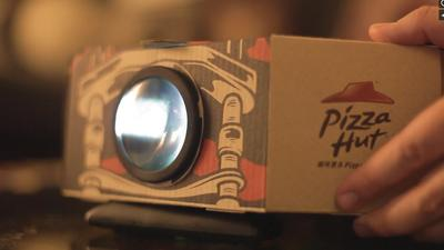 This Pizza Hut Box Turns Into a Movie Projector