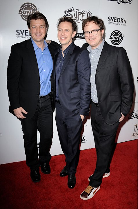 Super LA Premiere 2011 Nathan Fillion James Gunn Rainn Wilson