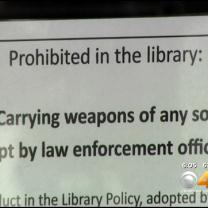 Gun Rights Activists Protest Library, Call Weapons Ban Illegal