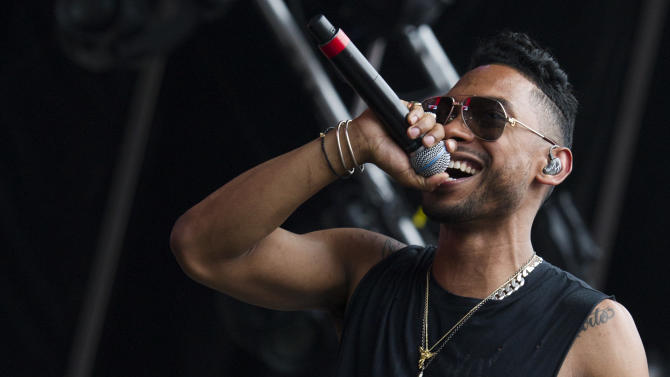 Miguel performs at the Hot 97 Summer Jam XX on Sunday, June 2, 2013 in East Rutherford, N.J. (Photo by Charles Sykes/Invision/AP)