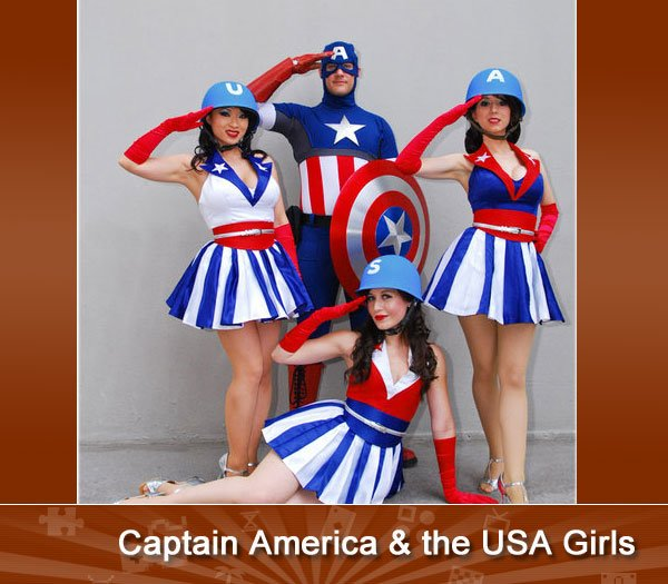 Captain America & the USA Girls