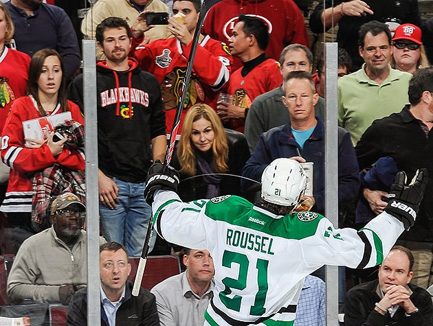 Antoine Roussel Taunts Blackhawks Fans After Penalty Shot (video)