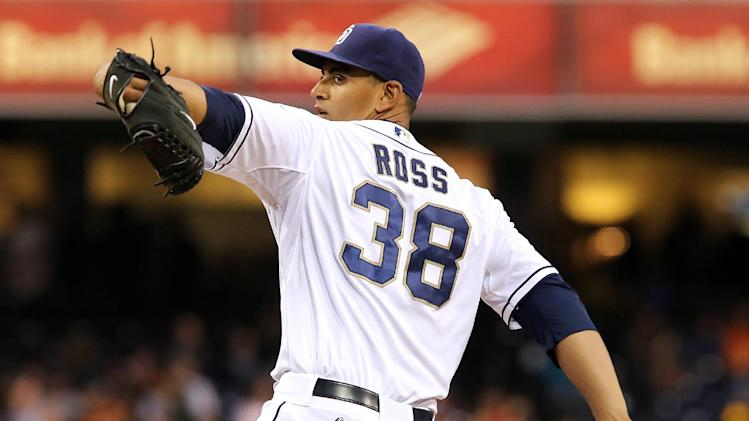 Ross, Padres beat Cain and Giants 2-1
