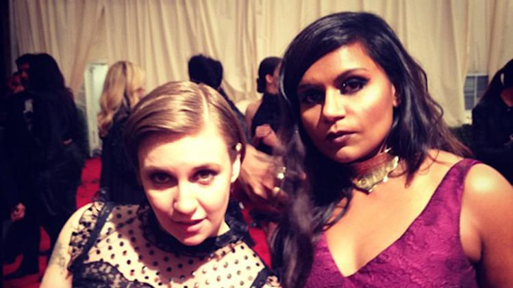 Lena Dunham and Mindy Kaling