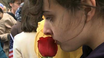 Raw: Vigil for Marathon Bombing Victims