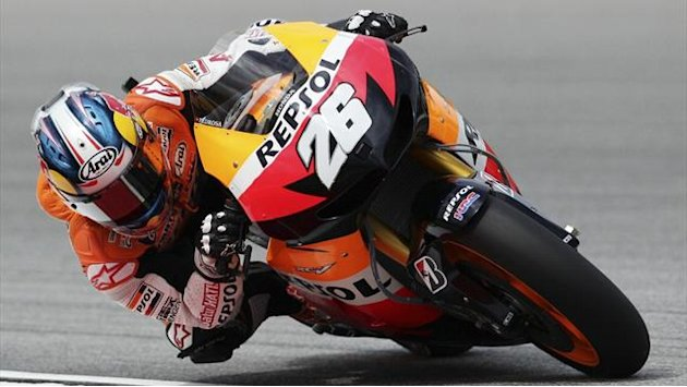 Motorcycling - Pedrosa fastest, Marquez crashes in Austin