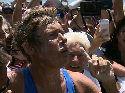 Raw: Nyad Completes Cuba to Florida Swim