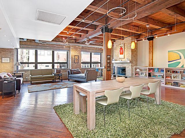 Lofty Living: Spacious Three Bedroom Damen Ave. Timber Loft Seeks $675K