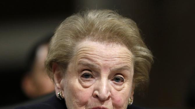 Former US Secretary of State Albright testifies at Senate Armed Services hearings in Washington
