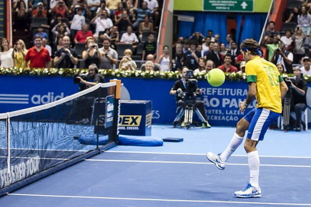 When you have your own tennis tournament, you can do stuff like this (Getty)