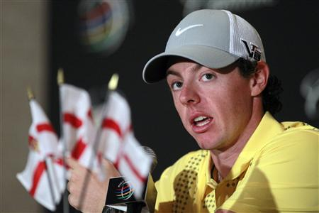 Northern Ireland's Rory McIlroy speaks at a news conference during a practice day for the WGC-Cadillac Championship PGA golf tournament in Doral