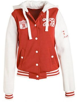Varsity hooded jacket