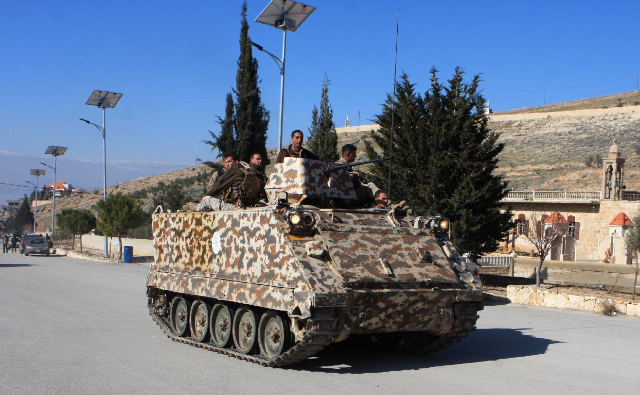 Clashes with gunmen on Syria border kill 5 Lebanese troops