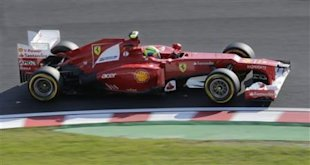 Ferrari driver Felipe Massa of Brazil steers his car during the Japanese Formula One Grand Prix at the Suzuka Circuit in Suzuka, Japan, Sunday, Oct. 7