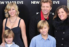Children Romeo, Stephanie Rose, Jacob with Jon Bon Jovi and wife Dorothea Hurley | Photo Credits: James Devaney/WireImage.com