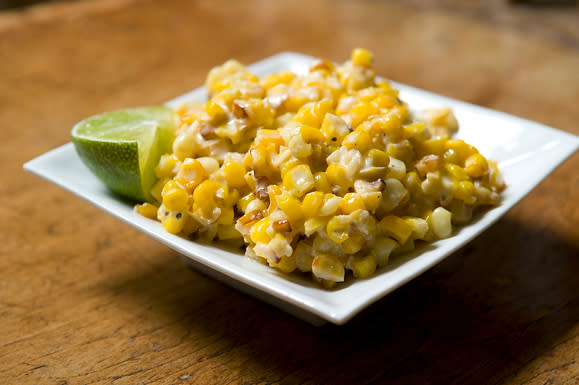 Roasted Corn with Lime, Parmesan, and Chili