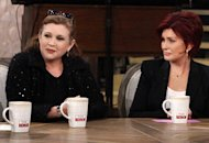 Carrie Fisher and Sharon Osbourne | Photo Credits: Lisette M. Azar/CBS