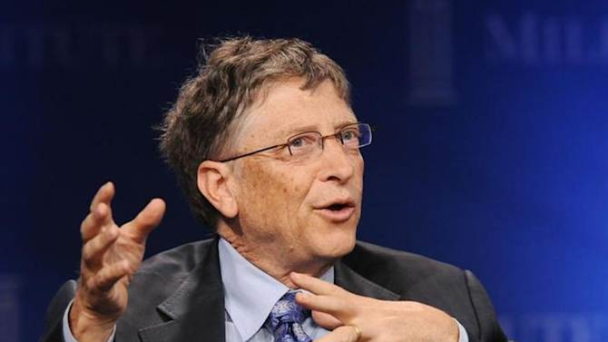 """Bill Gates, Microsoft Chairman and Co-Chair and Trustee of the Bill & Melinda Gates Foundation, takes part in a panel discussion titled """"Investing in African Prosperity"""" at the Milken Institute Global Conference in Beverly Hills, California May 1, 2013. REUTERS/Gus Ruelas/Files"""