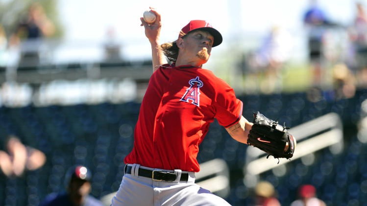 MLB: Spring Training-Los Angeles Angels at Cleveland Indians