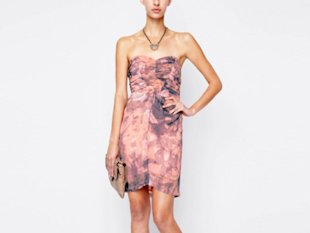 BCBGeneration Printed Strapless Dress