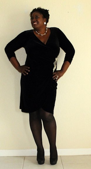 Black Velour Dress