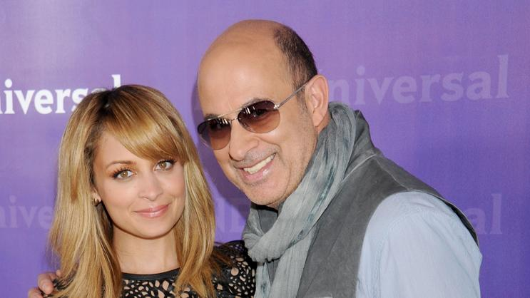 Nicole Richie and designer John Varvatos