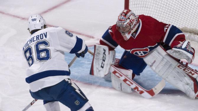Lightning edge Canadiens 2-1 in OT