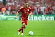 Bayern Munich's star wingers Franck Ribery, seen here in May 2012, has been ruled out of Saturday's Bundesliga clash with Schalke 04 after failing to recover from a left thigh injury