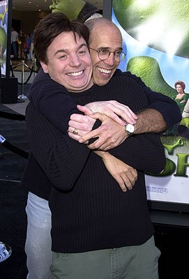 Mike Myers and Jeffrey Katzenberg at the Westwood, CA premiere of DreamWorks Pictures' Shrek