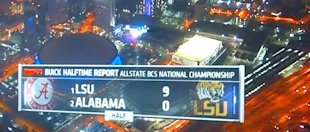 Even ESPN is having trouble focusing during the BCS title game