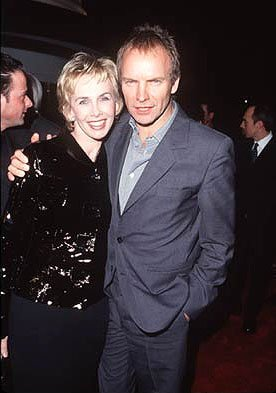 Sting and his wife at the premiere of Gramercy's Lock, Stock and Two Smoking Barrels