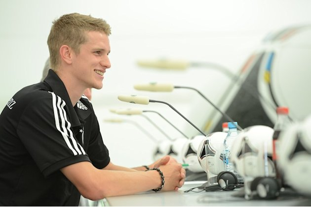 German Midfielder Lars Bender Smiles AFP/Getty Images