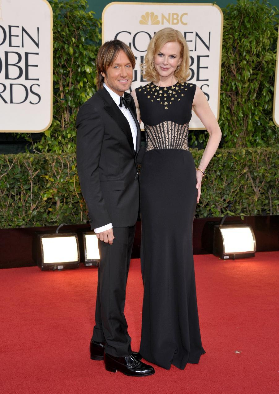 Musician Keith Urban, left, and actress Nicole Kidman arrive at the 70th Annual Golden Globe Awards at the Beverly Hilton Hotel on Sunday Jan. 13, 2013, in Beverly Hills, Calif. (Photo by John Shearer/Invision/AP)
