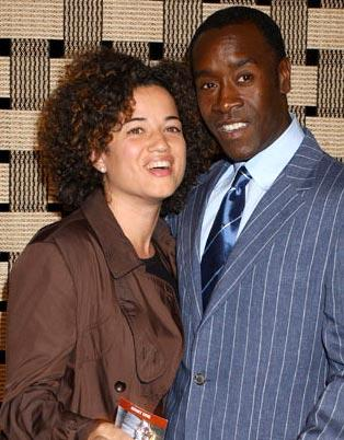 Bridgid Coulter and Don Cheadle at the Beverly Hills premiere of United Artists' Hotel Rwanda