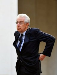 <p>Italian Prime Minister Mario Monti (pictured on September 21) is in sensitive negotiations with trade unions as unemployment increases and the end of a punishing recession is still not visible on the horizon.</p>