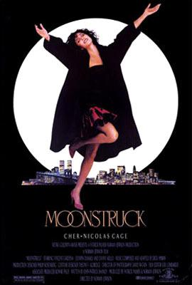 Cher on the theatrical poster for MGM's Moonstruck