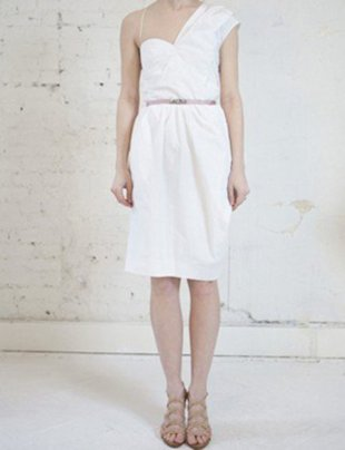 CARVEN ASYMMETRIC TAFFETA SHORT DRESS, $350 (FROM $760)