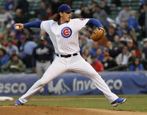 Cubs back Samardzija with 3 HRs in win over Braves