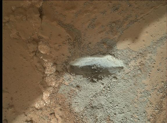 NASA's Curiosity Rover Hammers Into 1st Mars Rock