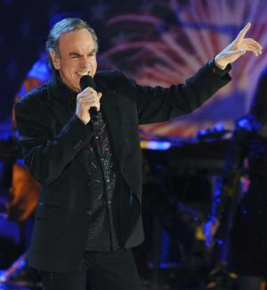 FILE - In this July 3, 2009 file photo, Neil Diamond performs with the Boston Pops on the Esplanade in Boston. The 2011 class for the Rock and Roll Hall of Fame will include Diamond, Alice Cooper, Darlene Love, Dr. John and Tom Waits. The induction ceremony is scheduled for March 14, 2011 in New York. (AP Photo/Lisa Poole, file)