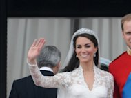 Prince William, Duke of Cambridge and Catherine, Duchess of Cambridge, greet well-wishers from the balcony at Buckingham Palace, London, England, on April 29, 2011 -- Getty Images