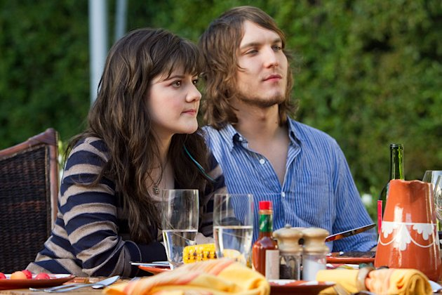 "Madeleine Martin as Becca and Scott Michael Foster as Tyler in ""Californication."""