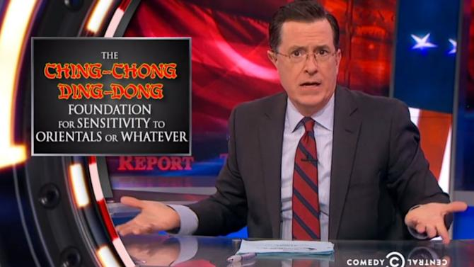 Stephen Colbert on the Defensive After 'Ching-Chong Ding-Dong' Tweet