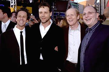 Brian Grazer , Russell Crowe , Ron Howard and Akiva Goldsman at the LA premiere of Universal's Cinderella Man