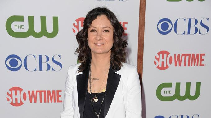 "Sara Gilbert of ""The Talk"" attends the CBS, The CW, and Showtime 2011 Summer TCA Party at The Pagoda on August 3, 2011 in Beverly Hills, California."