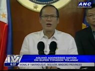 "President Noynoy Aquino warns of storm surge in areas in Leyte, Albay, Quezon: ""Maaring umabot ng 5-6m ang taas ng alon sa mga lugar na ito."" Aquino appeals for cooperation & bayanihan amid threat from Typhoon Yolanda. Aquino also urges the public to take warnings seriously amid threat from Typhoon Yolanda."