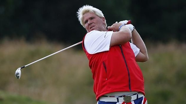 John Daly watches his shot on the seventh hole during the second round of the 2012 Open golf championship at Royal Lytham & St Annes (Reuters)