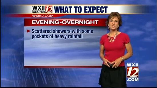 Lanie: Pockets of heavy rain, storms possible